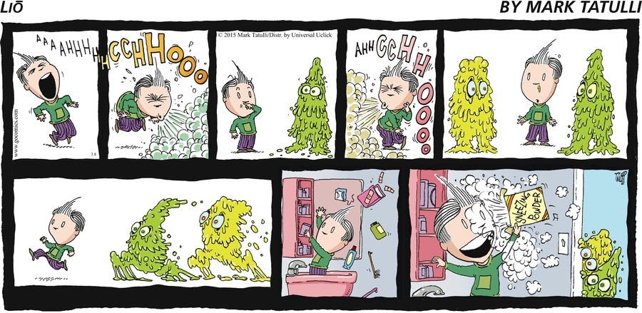 Lio Comic Strip for March 08, 2015