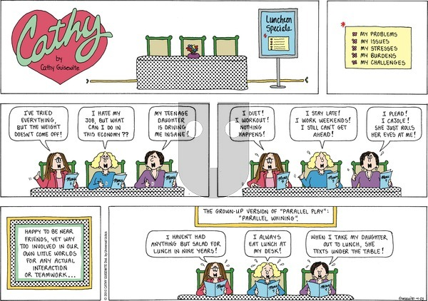 Cathy Classics on Sunday April 25, 2021 Comic Strip