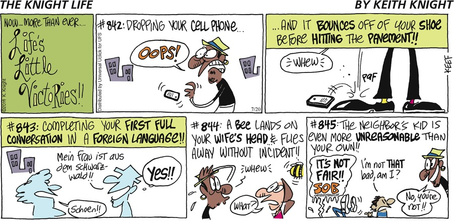 The Knight Life Comic Strip for July 20, 2014