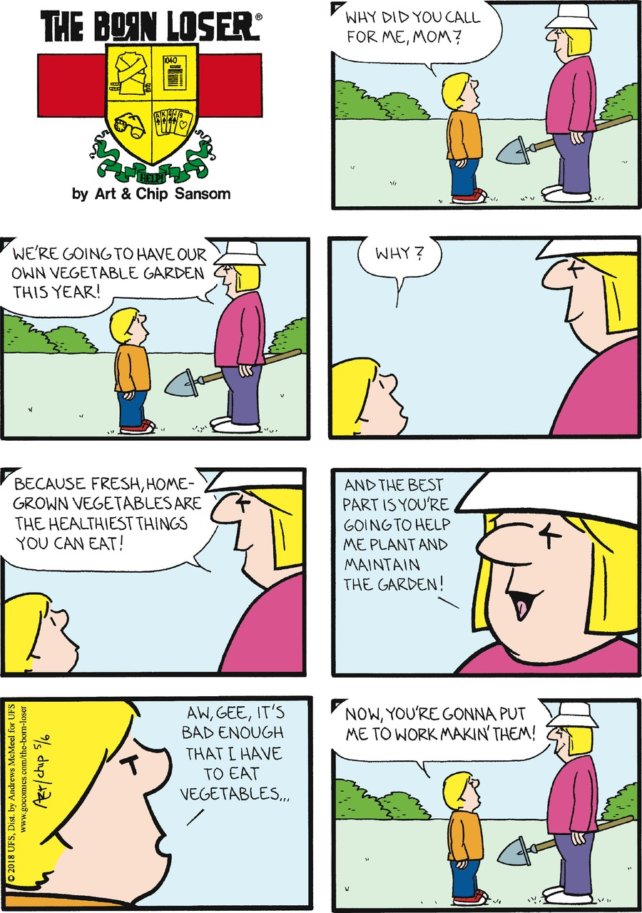 The Born Loser for May 6, 2018 Comic Strip