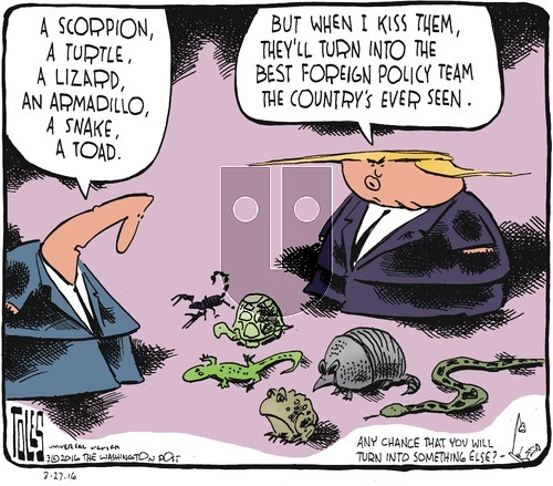 Tom Toles on Sunday March 27, 2016 Comic Strip