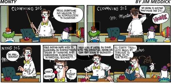 Monty on Sunday May 14, 2017 Comic Strip