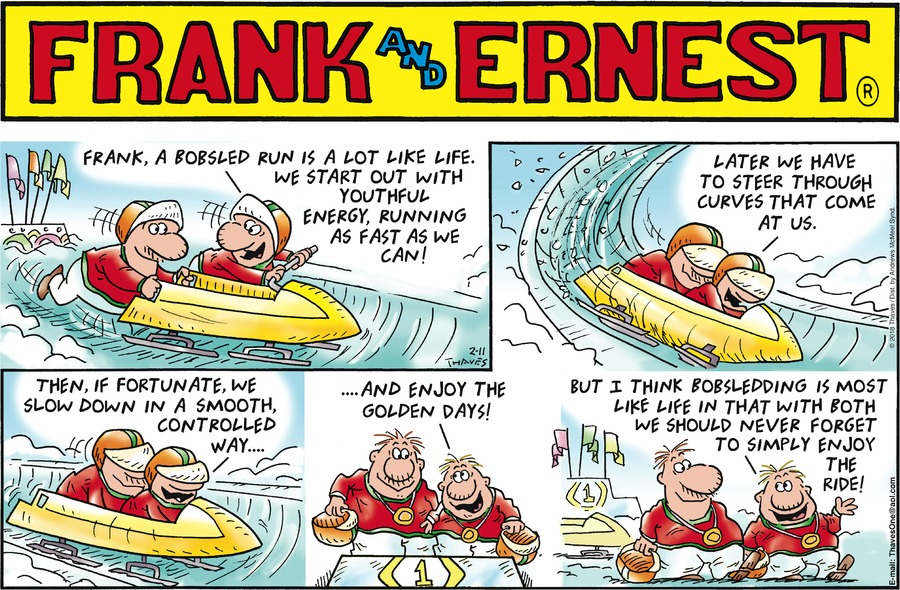 Frank and Ernest Comic Strip for February 11, 2018