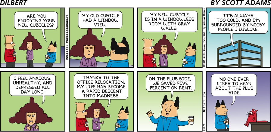 New Cubicles - Dilbert by Scott Adams