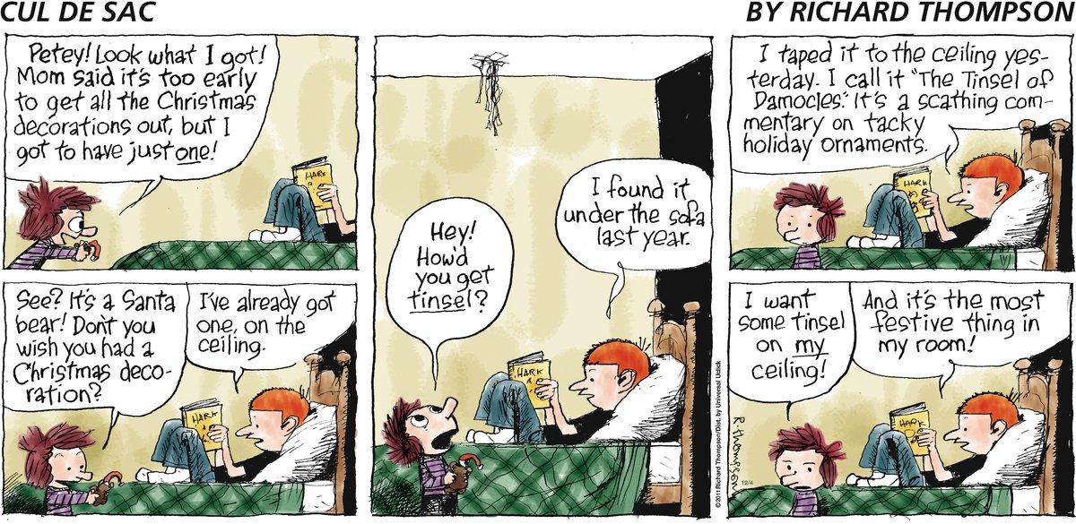 Cul de Sac Comic Strip for December 04, 2011
