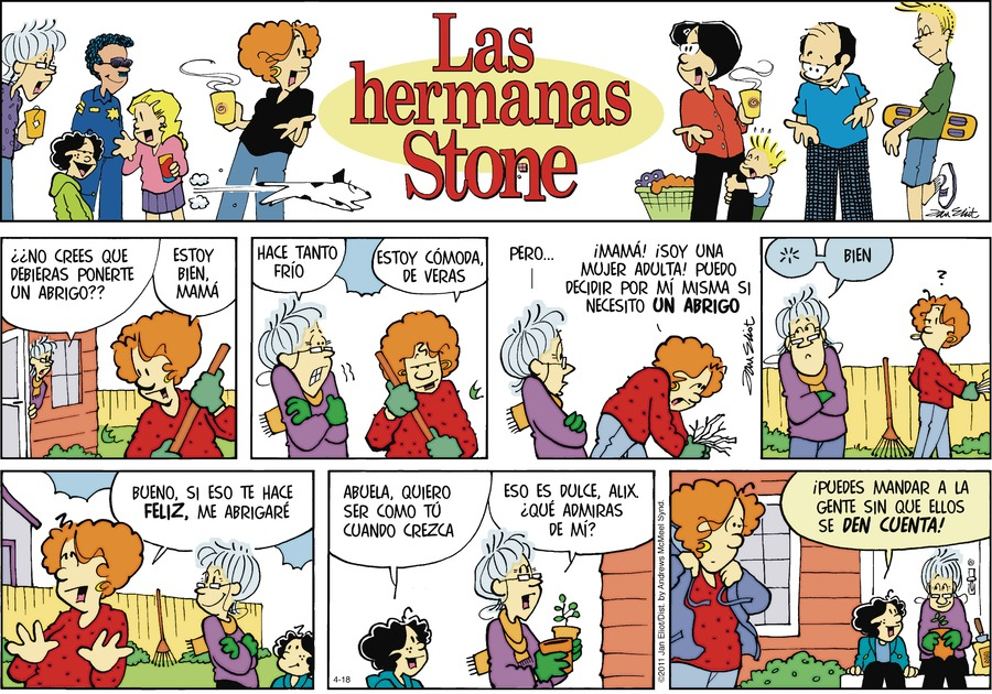 Las Hermanas Stone Comic Strip for April 18, 2021