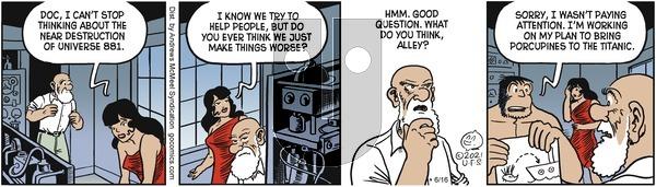 Alley Oop - Wednesday June 16, 2021 Comic Strip