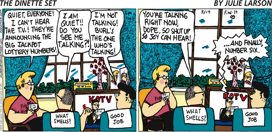 The Dinette Set for May 19, 2013 Comic Strip