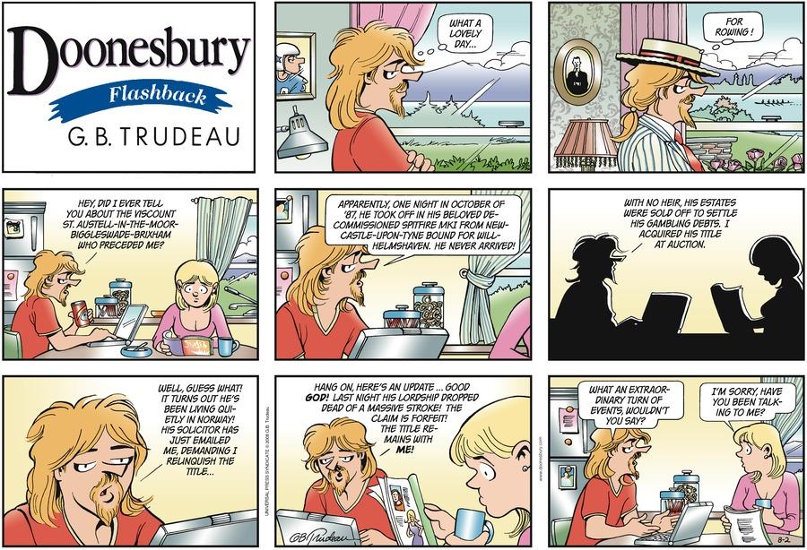 Doonesbury Comic Strip for August 02, 2009