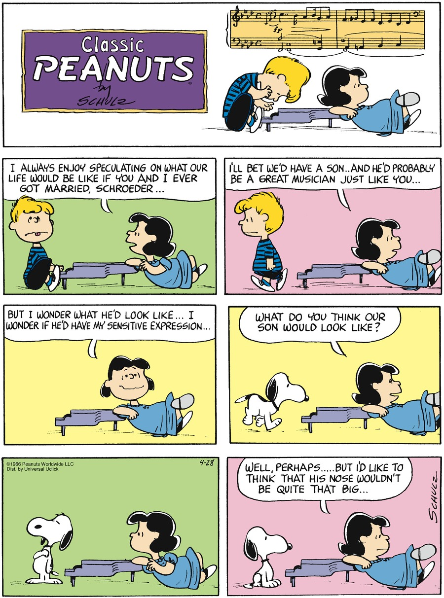 Peanuts for Apr 28, 2013 Comic Strip