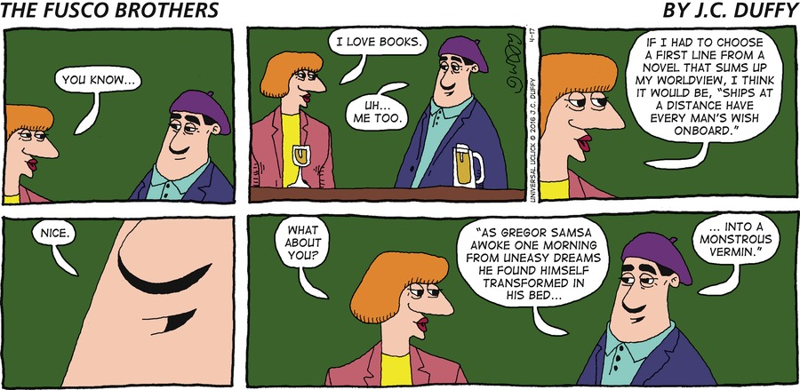 The Fusco Brothers Comic Strip for April 17, 2016