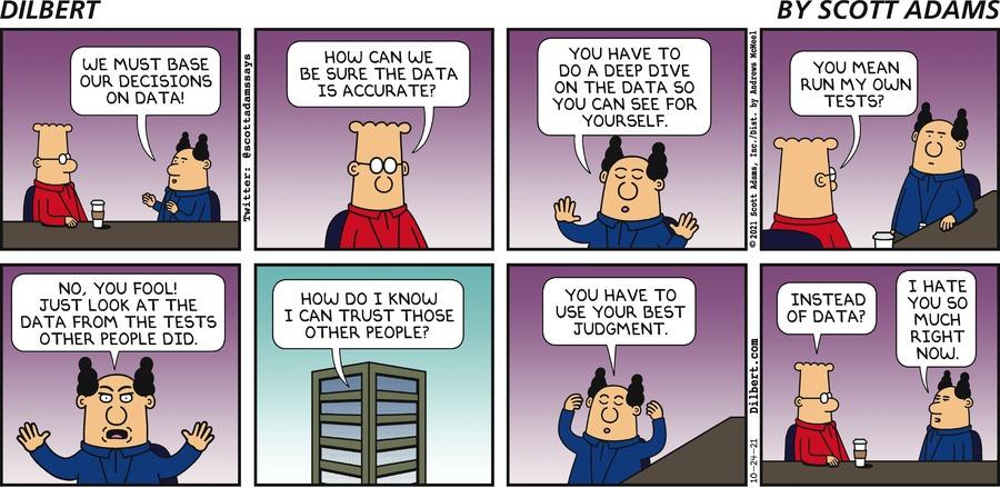 Sunday   Data Dive - Dilbert by Scott Adams