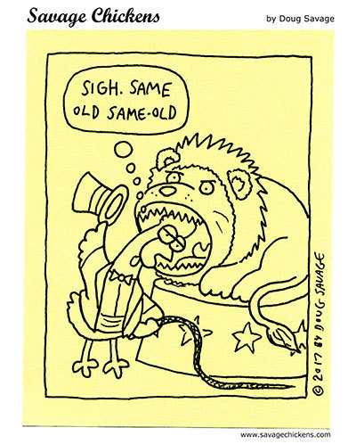 Savage Chickens Comic Strip for February 26, 2021