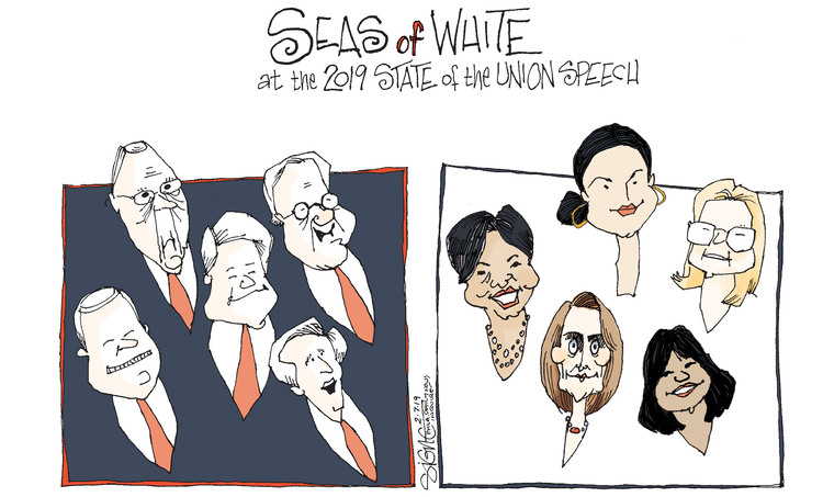 Signe Wilkinson by Signe Wilkinson for February 07, 2019