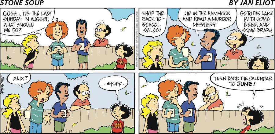Stone Soup Comic Strip for August 27, 2017