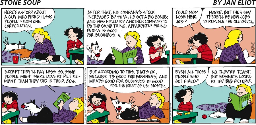 Stone Soup Comic Strip for October 04, 2020