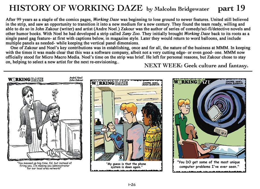 Working Daze Comic Strip for January 26, 2014
