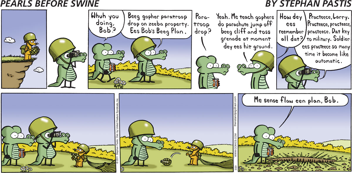 Pearls Before Swine Comic Strip for March 20, 2011