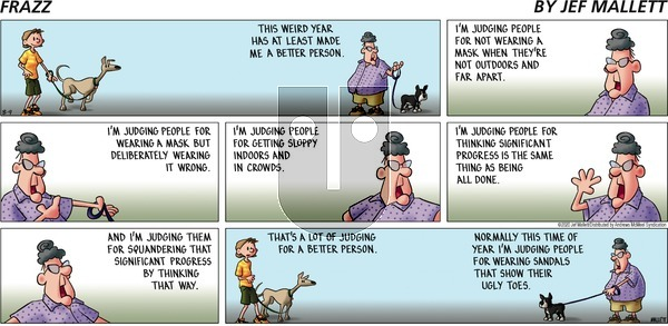 Frazz on Sunday August 9, 2020 Comic Strip
