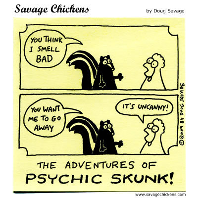 The adventures of Psychic Skunk! 