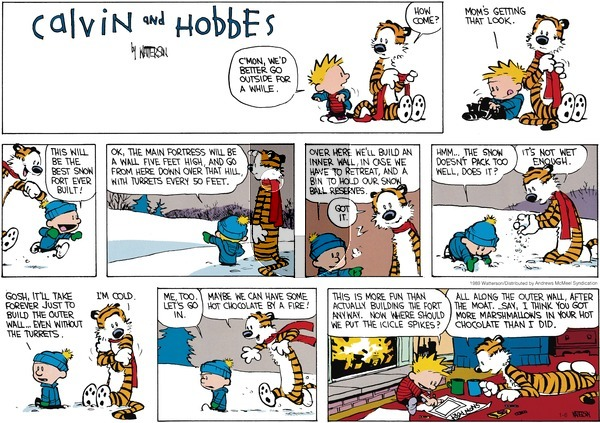 Calvin and Hobbes - Sunday January 6, 2019 Comic Strip