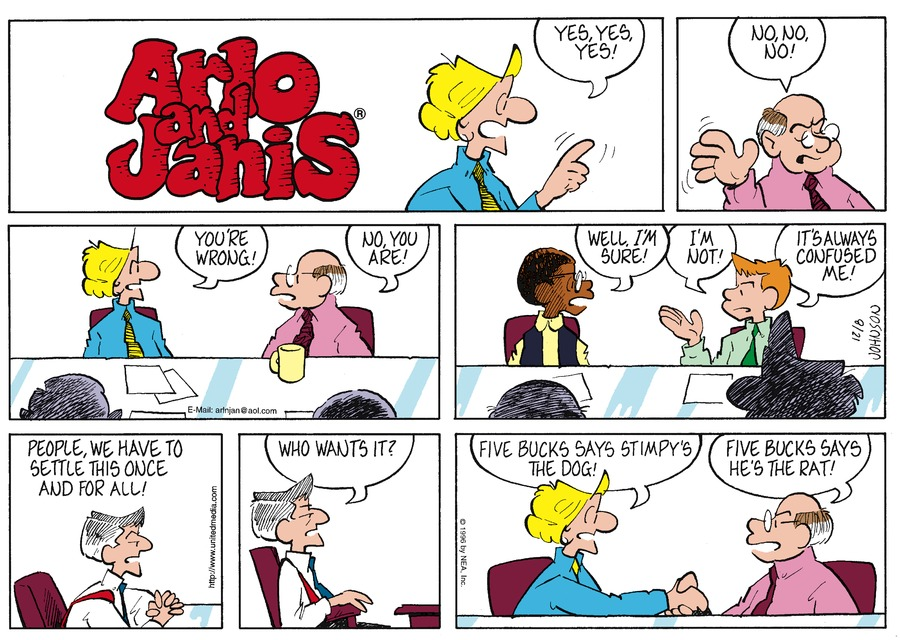 Arlo and Janis Comic Strip for December 08, 1996