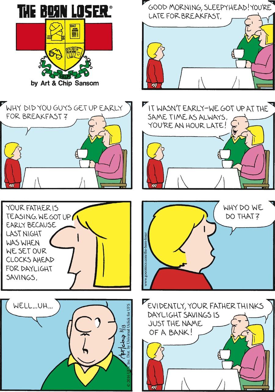 The Born Loser for Mar 13, 2016 Comic Strip