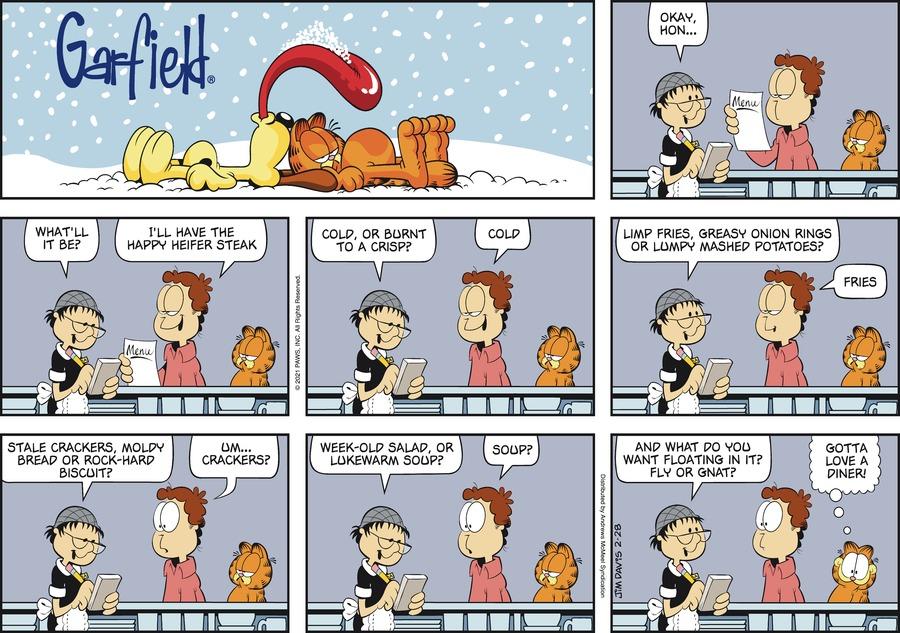 Garfield Comic Strip for February 28, 2021