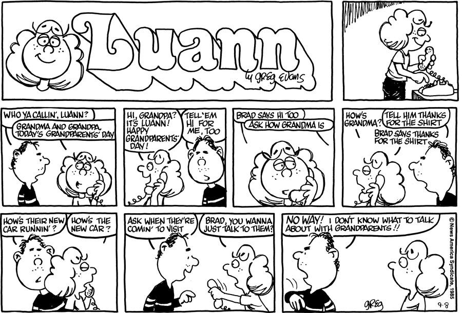 Luann Againn for Sep 8, 2013 Comic Strip