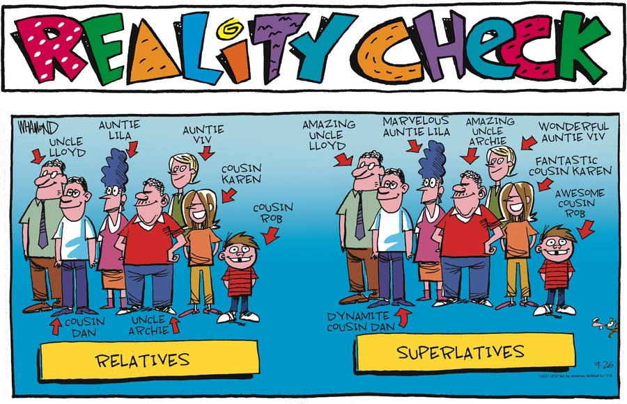 Reality Check Comic Strip for September 26, 2021