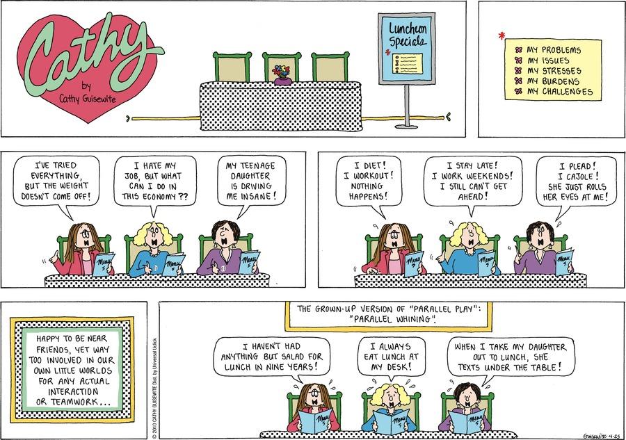 Cathy for Apr 25, 2010 Comic Strip