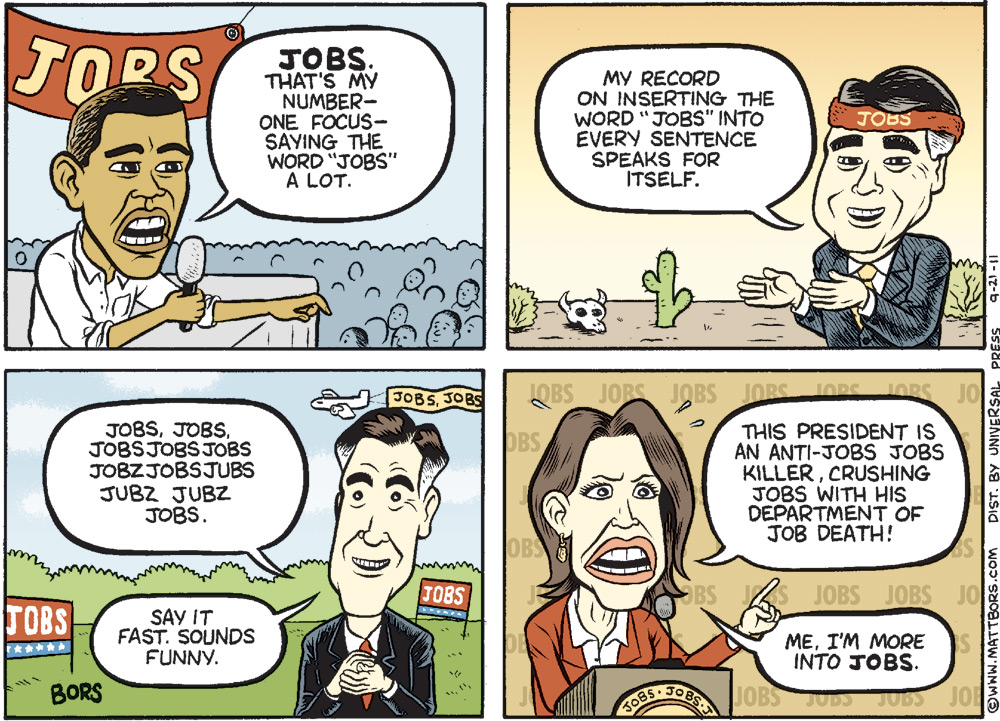 Matt Bors Comic Strip for September 21, 2011