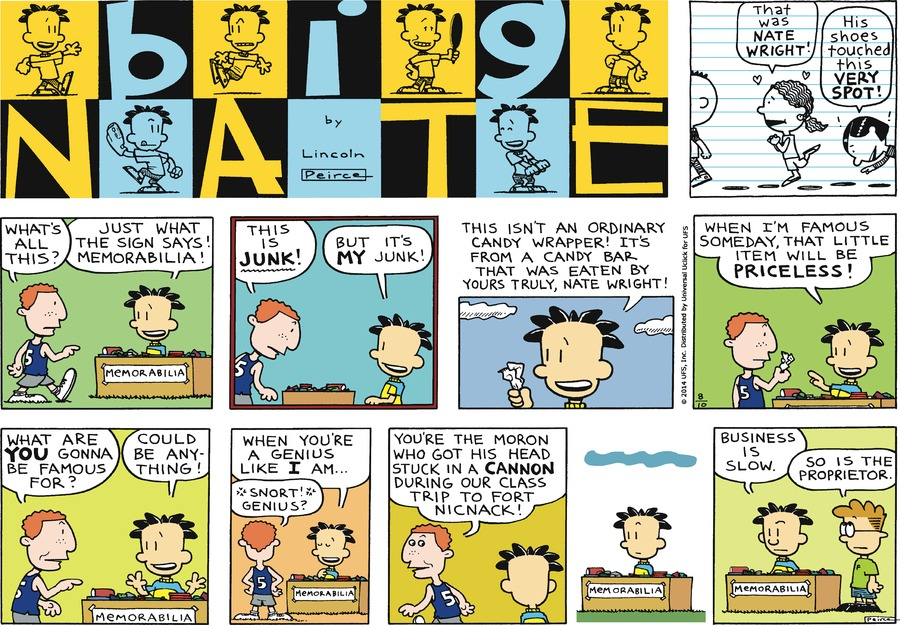 Big Nate Comic Strip for August 10, 2014
