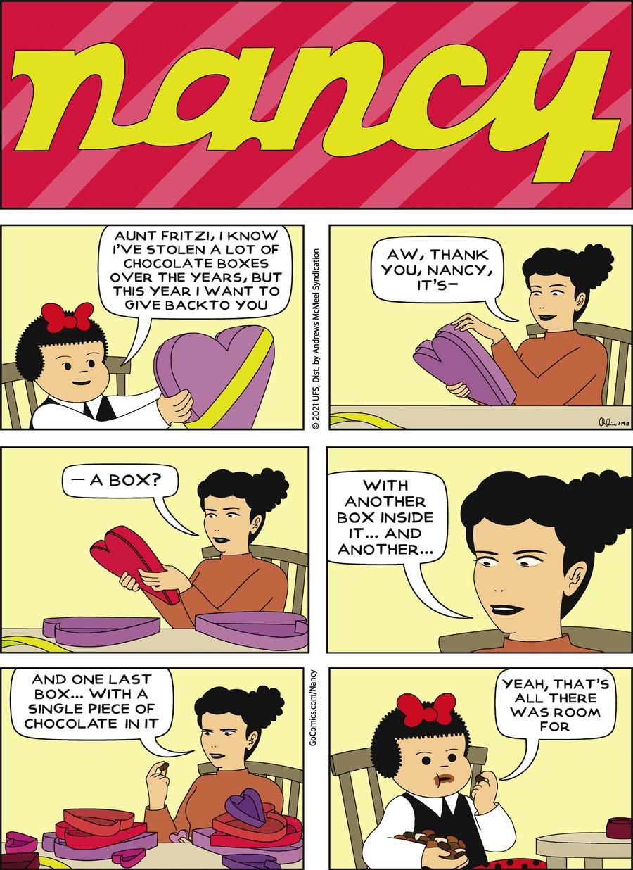 Nancy Comic Strip for February 14, 2021