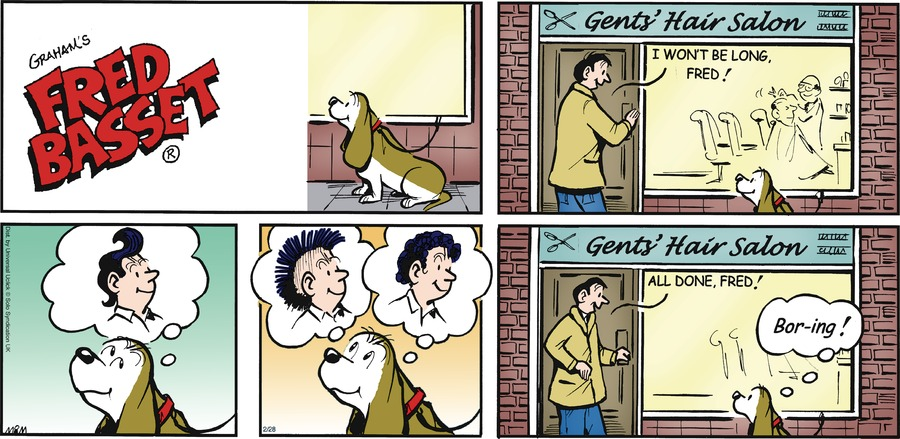Fred Basset Comic Strip for February 28, 2016