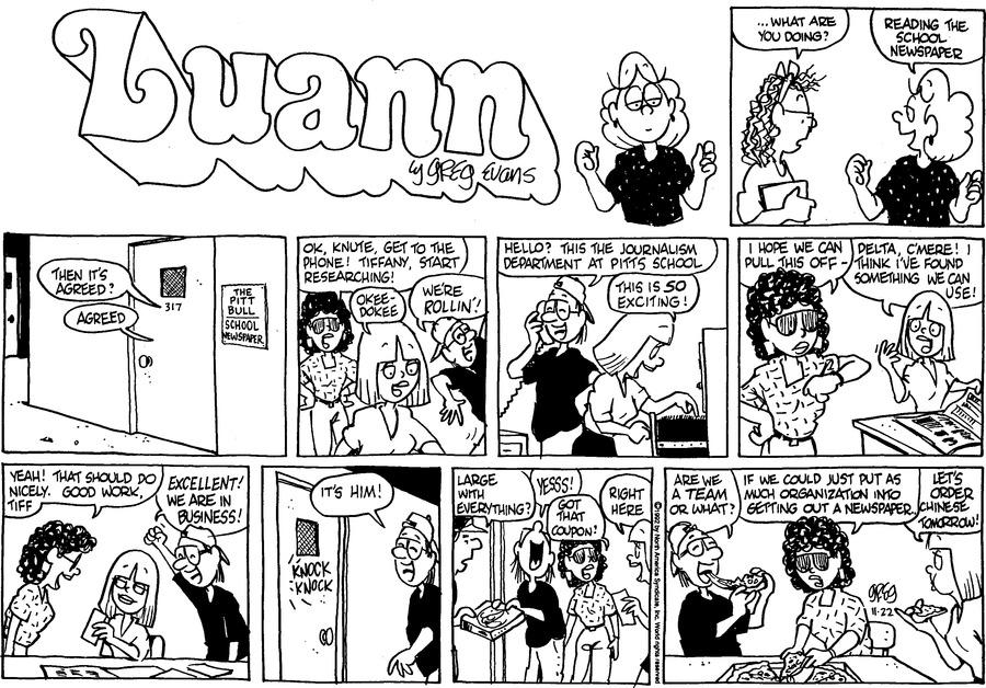 Luann Againn Comic Strip for November 22, 2020