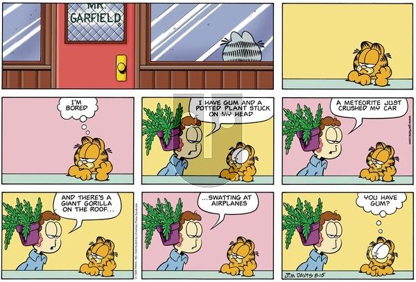 Garfield on Sunday August 15, 1999 Comic Strip