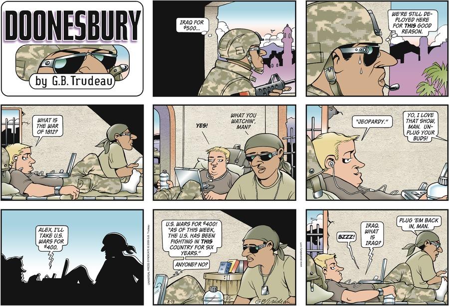 Doonesbury Comic Strip for March 15, 2009