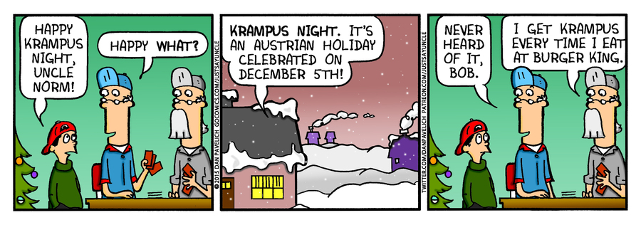Just Say Uncle Comic Strip for December 05, 2018