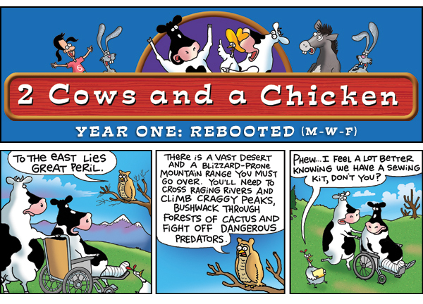 2 Cows and a Chicken for Jul 8, 2013 Comic Strip