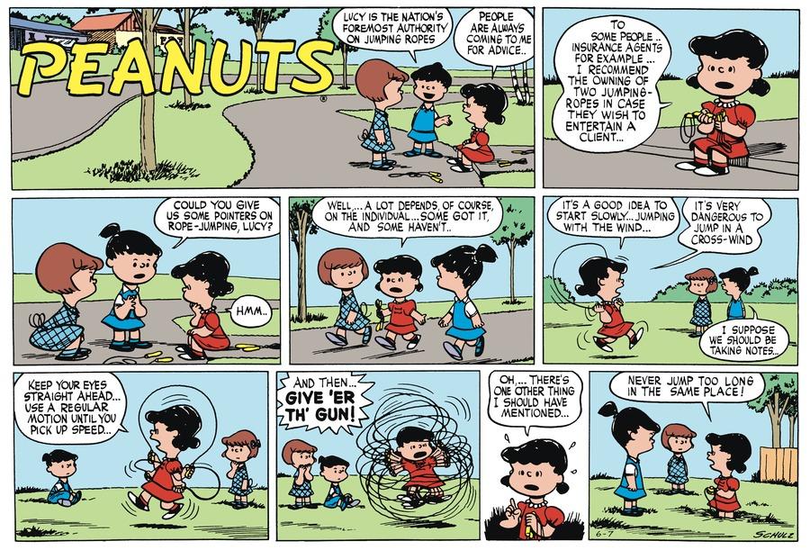 Peanuts Begins Comic Strip for June 07, 1953