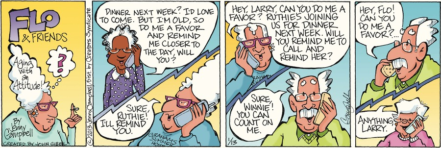 Flo and Friends for Jan 13, 2013 Comic Strip