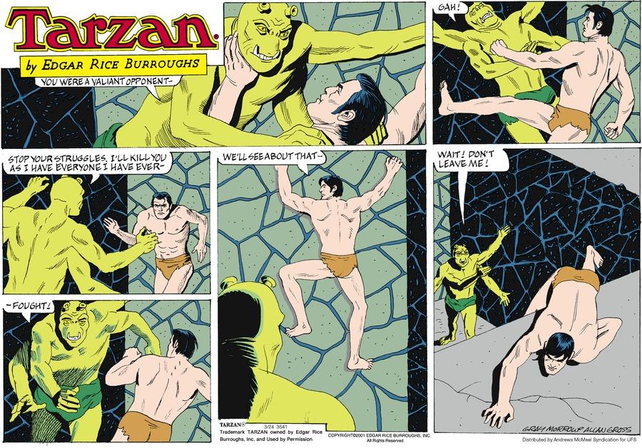 Tarzan by Edgar Rice Burroughs for March 24, 2019