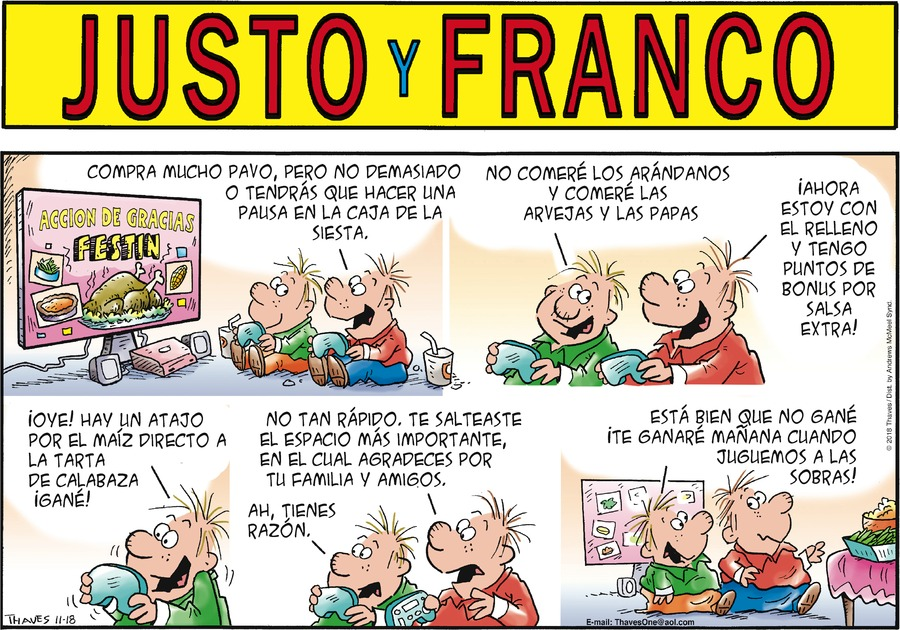 Justo y Franco by Thaves for November 18, 2018