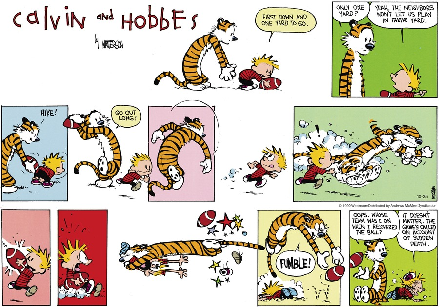 Calvin and Hobbes Comic Strip for October 25, 2020