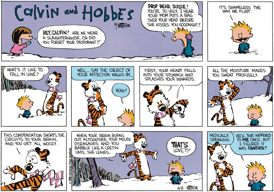 Calvin and Hobbes for Feb 16, 1986 Comic Strip