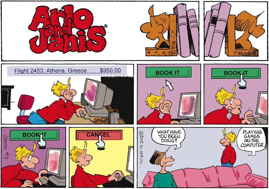 Arlo and Janis Comic Strip for April 07, 2002