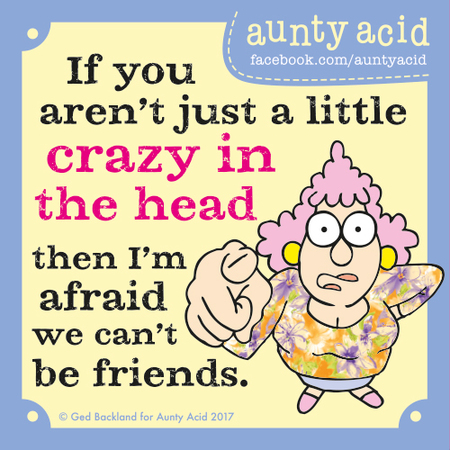 Aunty Acid for Nov 18, 2017 Comic Strip