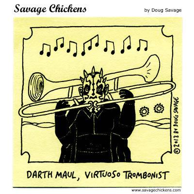 Darth Maul, virtuoso trombonist.