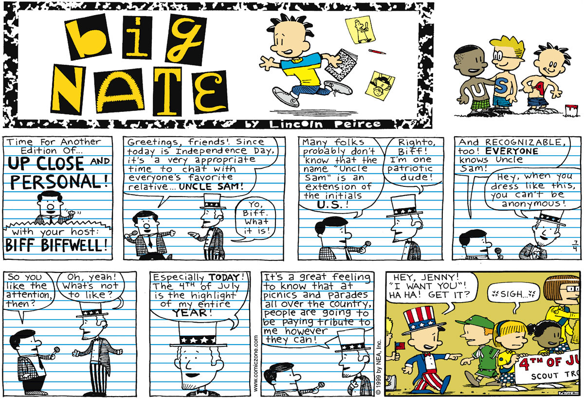 Big Nate Comic Strip for July 04, 1999